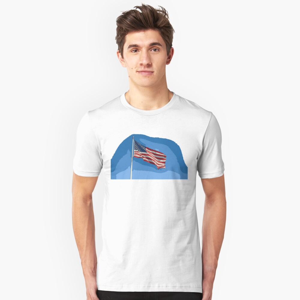Flag of The USA edit Unisex T-Shirt Front