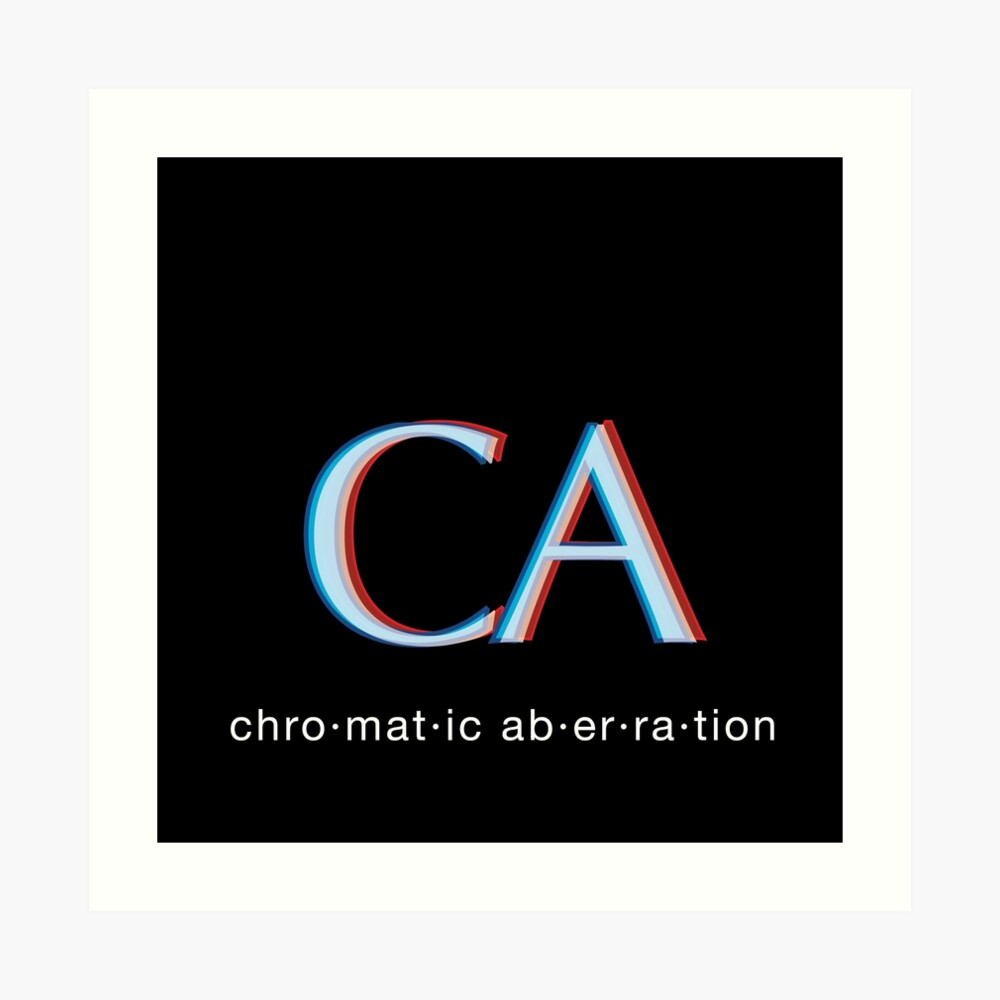 CA - Chromatic Aberration - photography  Art Print