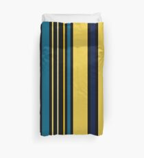 Teal blue and Yellow Stripes Duvet Cover