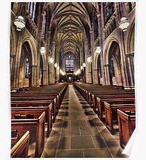 The Aisle of Duke Chapel Poster