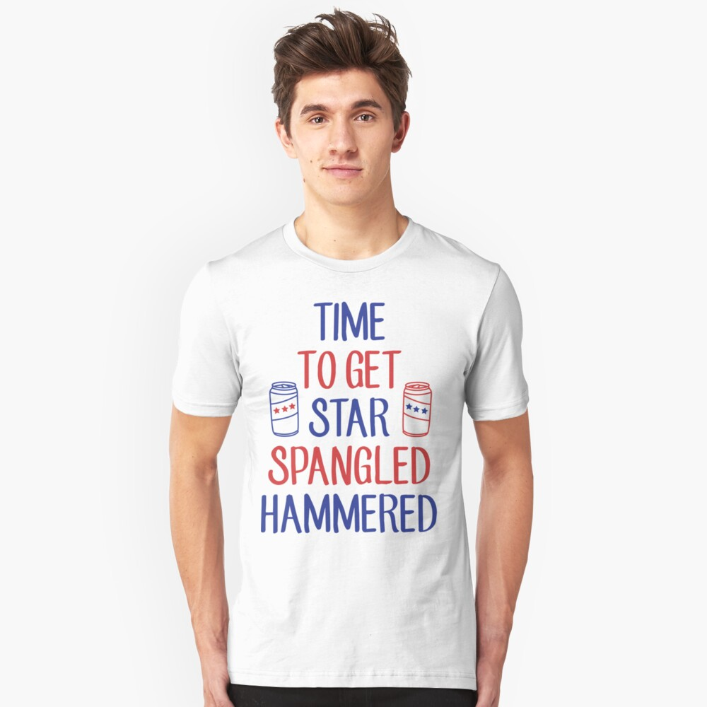 Star Spangled Hammered Unisex T-Shirt Front