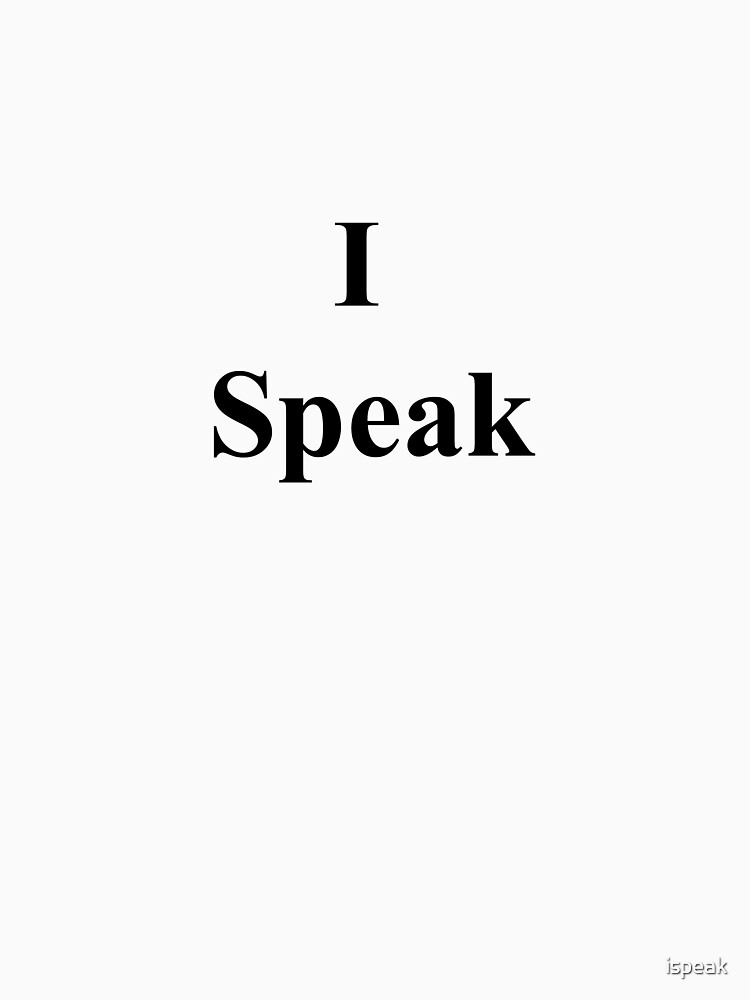 I Speak by ispeak