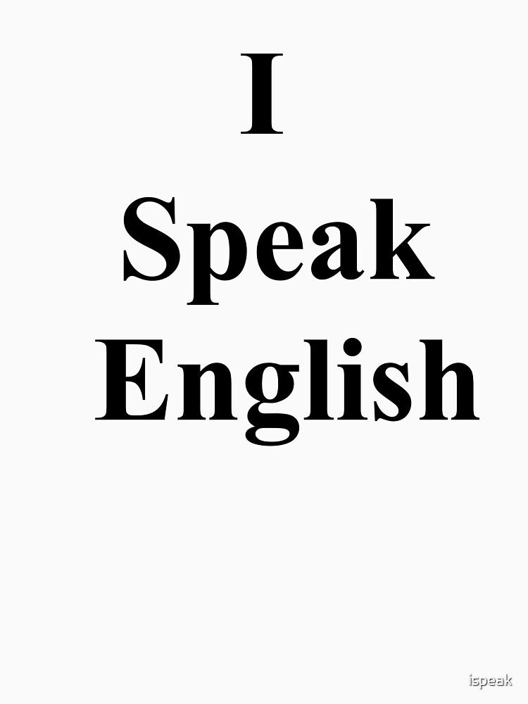 I Speak English by ispeak