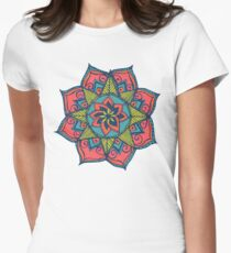 Indian Mandala Women's Fitted T-Shirt