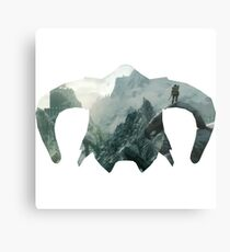 Elder Scrolls - Helmet - Mountains Metal Print
