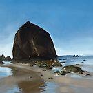 Haystack Rock - Oregon by Brad Collins