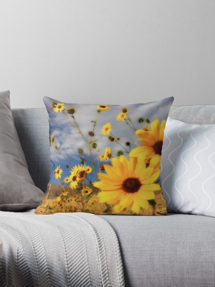 Sunflowers Tote Bag and Throw Pillow by Gene Praag