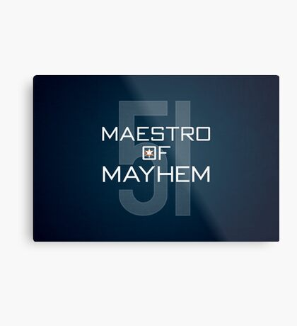 Maestro of Mayhem Metal Print