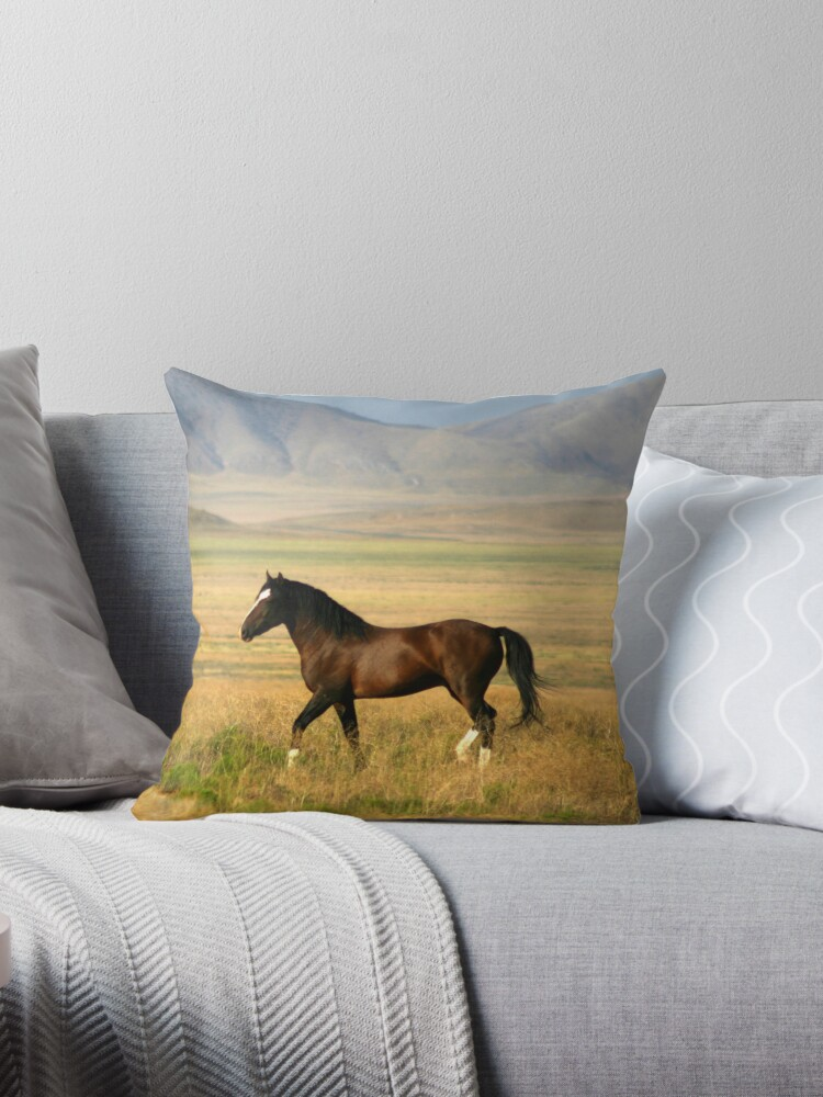 The Proud One Throw Pillow & Tote Bag by Gene Praag