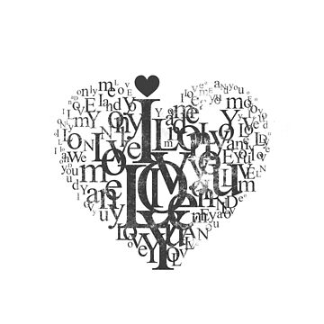 Love heart black and white by Ravenberryca