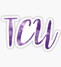 TCU/Texas Christian University Watercolor Sticker