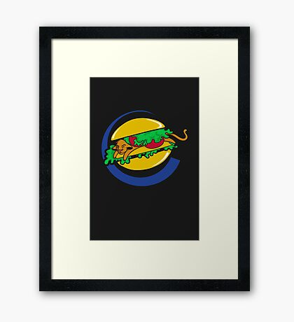 The Lion Burger King Framed Print