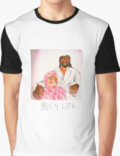 Pink Guy and Black Jesus, Pals for Life Graphic T-Shirt