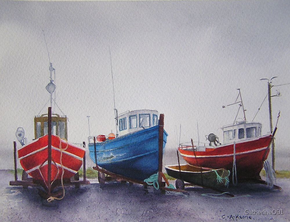 Fishing Boats at Blacksod by Catherine091