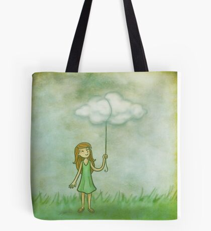 Cloud on a string Tote Bag