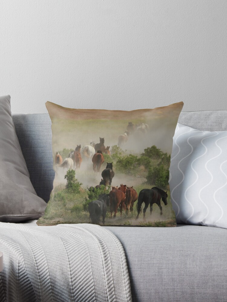 The Retreat Throw Pillow and Tote Bag by Gene Praag
