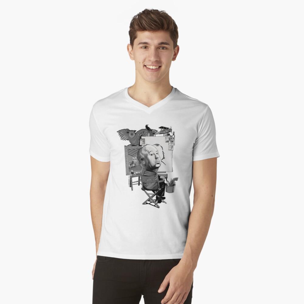 Alfred Hitchcock V-Neck T-Shirt