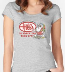 Hills is where the toys are! Women's Fitted Scoop T-Shirt