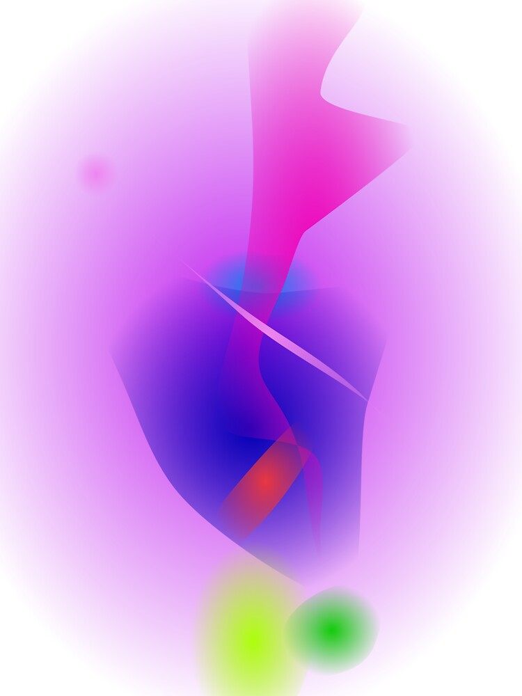 Hazy Light Purple Toy Abstract by masabo