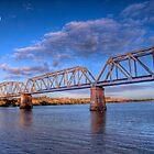 Moon River - Railway Bridge at Murray Bridge, South Australia by Mark Richards