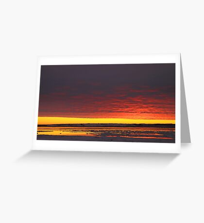 Sunset Gold at Churchill, Canada Greeting Card