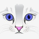 Cute White Kitty Cat by CroDesign