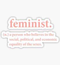 Pegatina definición feminista