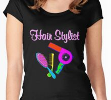 TERRIFIC HAIR STYLIST Women's Fitted Scoop T-Shirt
