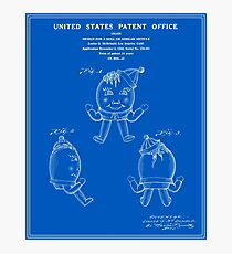 Humpty Dumpty Patent - Blueprint Photographic Print
