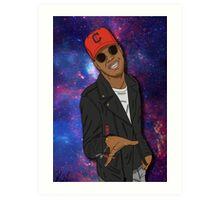 Kid Cudi galaxy Art Print