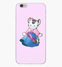 Kawaii White Tiger in Hanbok iPhone Case