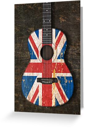 Aged and worn british acoustic guitar greeting cards by jeff aged and worn british acoustic guitar by jeff bartels m4hsunfo
