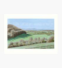 February Downland by John Rees Art Print