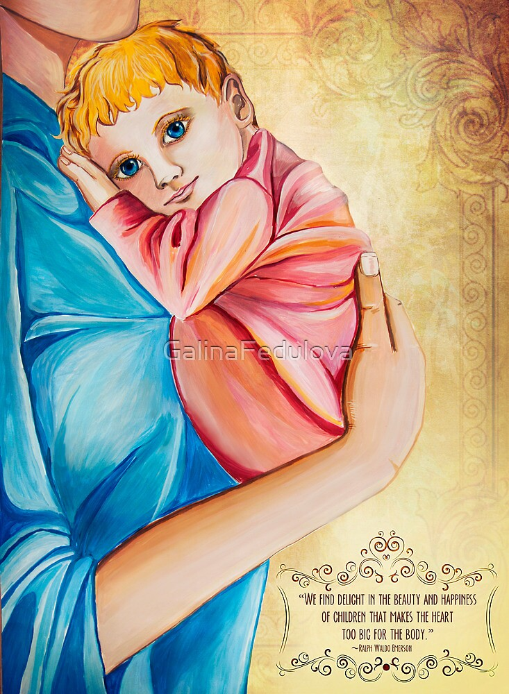 Mother holding the baby by GalinaFedulova