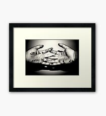Interlinking words and wisdom Framed Print