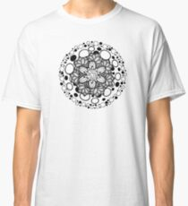 Flower Ornament Black and White Classic T-Shirt