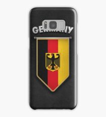 Germany Pennant with leather style background Samsung Galaxy Case/Skin