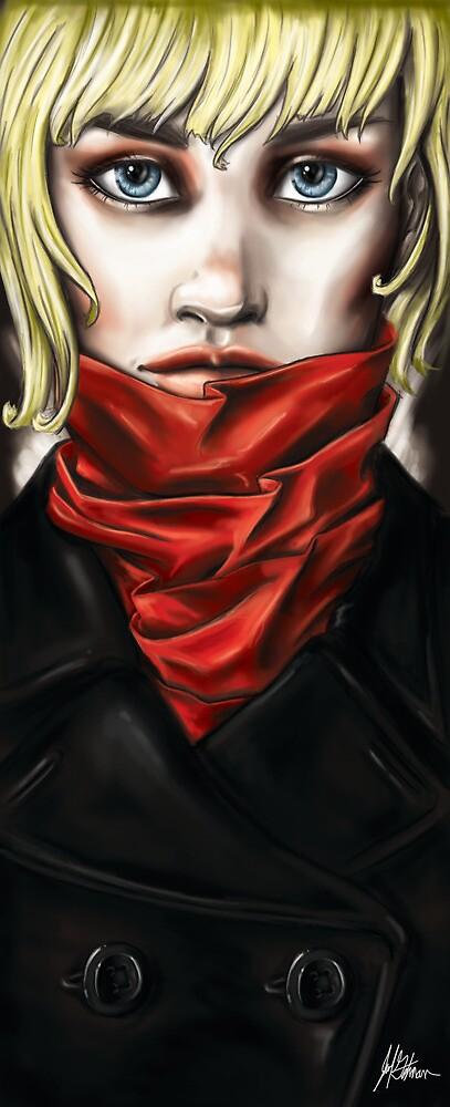Red Scarf No.2 by JohnyArtguy42