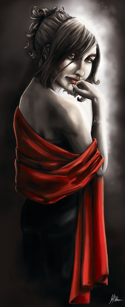 Red Scarf No.3 by JohnyArtguy42