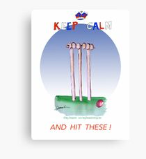 Keep Calm and hit these - tony fernandes Canvas Print