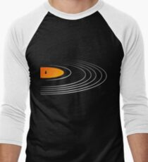 Music Retro Vinyl Record  Men's Baseball ¾ T-Shirt