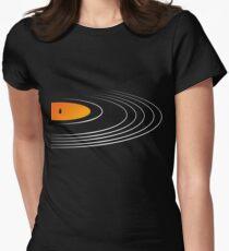 Music Retro Vinyl Record  Women's Fitted T-Shirt