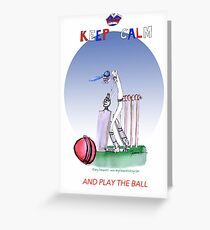 Keep Calm and play the ball - tony fernandes Greeting Card