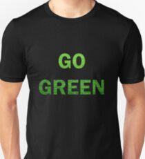 "Wording ""GO GREEN"" made from green grass photo T-Shirt"