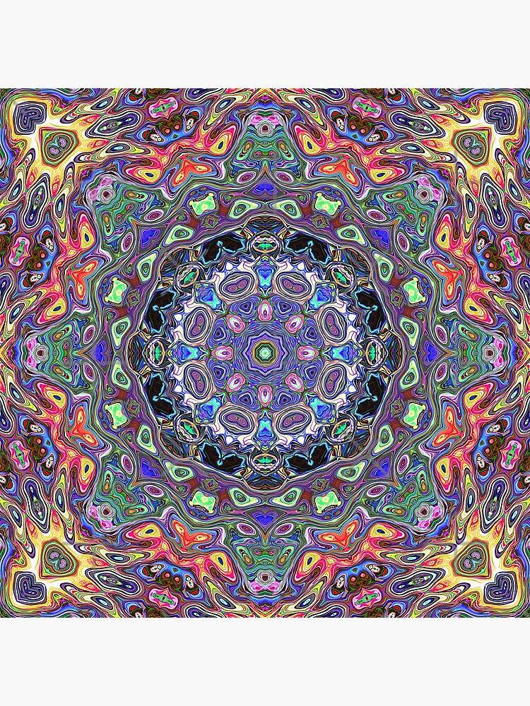 Colorful Mandala Abstract by perkinsdesigns