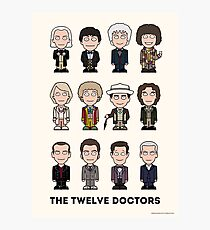 The Twelve Doctors (poster or print) Photographic Print