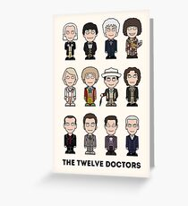 The Twelve Doctors (card) Greeting Card