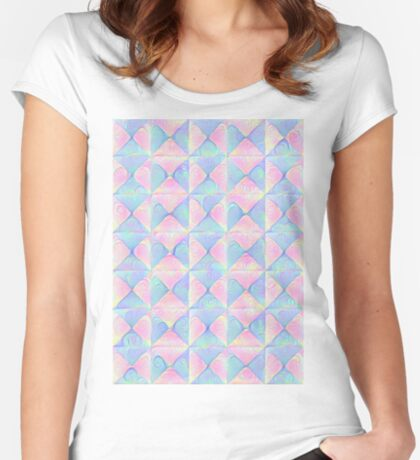 #DeepDream factures #art Fitted Scoop T-Shirt