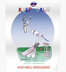 Keep Calm and well grounded - tony fernandes Poster