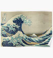 Kanagawa-Welle Poster